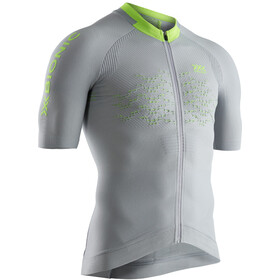 X-Bionic The Trick G2 Bike Zip Jersey SS Men dolomite grey/phyton yellow
